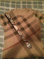 Burberry shirt and belt size M (gucci, louis vuitton,givenchy)