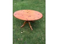 Ducal solid pine pedestal coffee table ( can deliver )
