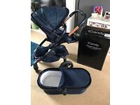 ICandy Peach Designer Collection Midnight Edition Pushchair And Carrycot Mint