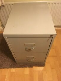 2 Drawer Lockable Filing Cabinet