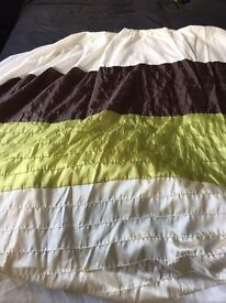 Lime, chocolate and cream double duvet set