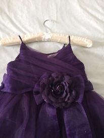 Purple bridesmaid dress age 10