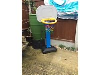 Kids free standing basketball net