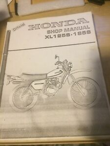 1979 1980 Honda XL 125 185 S Shop Manual
