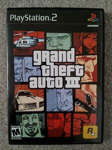 Grand Theft Auto III / PS2 / BLACK LABEL / NEAR MINT