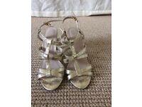 Gold strap heels size 4