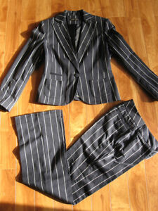 George Navy & White Striped Suit Size 4