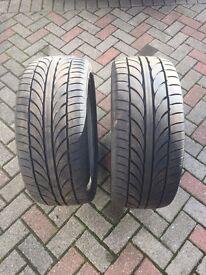 Tyres 245/40/19's
