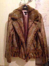 Faux Fur jackets both size 16. £20 each