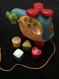 Shape sorter helicopter toy