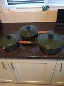 Le Cruset cookware set