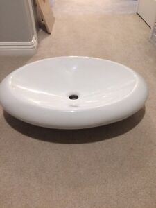 Vessel sink and Moen Faucet $200 Prince George British Columbia image 2