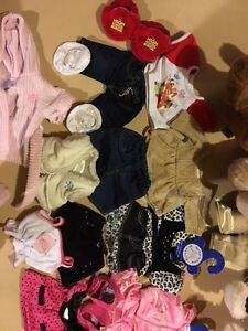 2 build a bears and lots of clothes !! 60$obo Cambridge Kitchener Area image 2