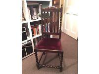 3 Edwardian Barley twist Chairs