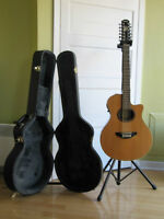 12-string Yahama acoustic/electric and other guitars