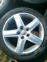 Audi A4 Rims 5 x 112 with All-Weather Tires