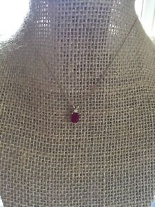 Genuine Ruby and Diamond pendant necklace Kitchener / Waterloo Kitchener Area image 2