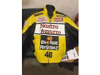 Motorcycle leather jacket Rossi replica