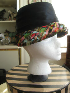 "GORGEOUS OLD VINTAGE LADY'S ""HIGH-SOCIETY"" HAT ...'50's STYLE..."