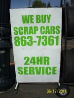 24HR Buying Scrap Cars/ALUM RIMS.FREE SCRAP APPLIANCE PICK UP