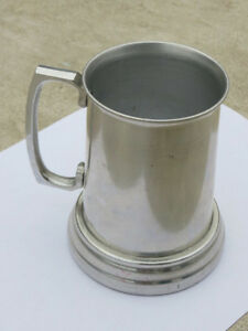 Aluminum Beer Mug with Clear Glass Bottom