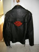 Vintage leather jacket with Harley Davidson logo
