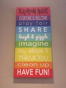 PLAYROOM RULES CANVAS, PERFECT CONDITION Beaumont Hills The Hills District Preview