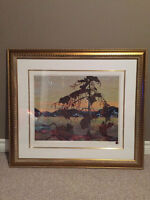 Framed Tom Thomson Limited Edition Print-West Wind $70