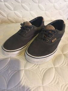 Youth Van's shoes - boys size 3 and full back hat Kingston Kingston Area image 1