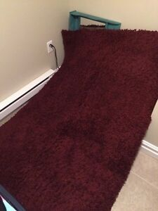 Burgundy Shag Rug - Great Condition
