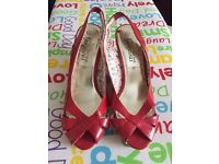 Red Wedge Shoes