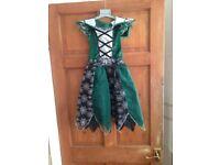 Girls Green & Black Halloween Dressing Up Dress Age 4-5 from Morrisons