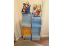 Two cardboard display units for Lego Simpsons Minifigures Series 1 & 2. Buyer must collect