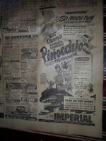 3 TORONTO DAILY STAR NEWSPAPERS 1945
