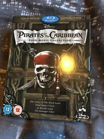 Pirates of the Caribbean bluray boxset dvd