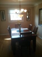 Cherrywood mission style dinning table