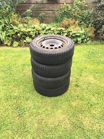 Wheels with winter tyres