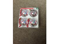 Set of 4 Christmas photo baubles *new*