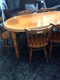 Dining Table & 6 Chairs - Can Deliver