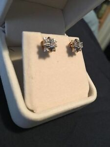 Gold and Diamond Studs (Reduced)