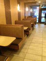 Restaurant upholstery and design