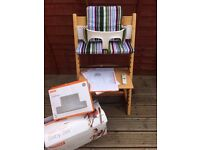 Stokke 'Tripp trapp' children's chair highchair with accessories