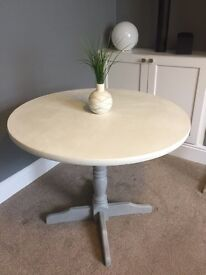 Dining Room Table (Grey/White) Upcycled, Annie Sloan