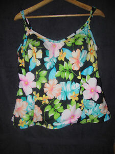 MIRACLESUIT Multi Colored Floral Bathing Suit Tank Top Strathcona County Edmonton Area image 1
