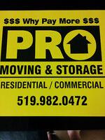 *PRO-MOVING & STORAGE*SHORT NOTICE MOVES*519-982-0472****