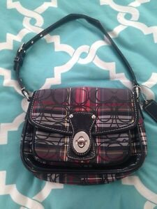Red and Black Plaid Coach Bag