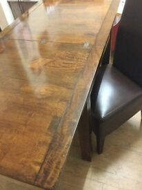 "Solid Mango Wood Extendable Dining Table ""Next"""