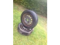 Used 175/65/14 exallent tyre with loads of tread 4 stud vauxhall rim 07594145438