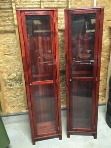 Compact curio cabinets $125ea