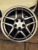 Corvette Z06 staggered wheels, two 17 inch and two 18 inch